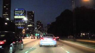 Lake Shore Drive North at Night: Chicago IL