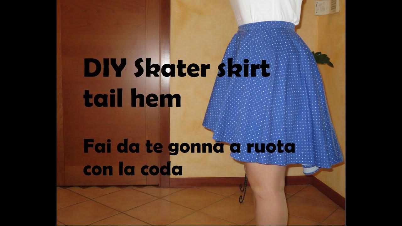 rivenditore di vendita c9ef8 d8c23 DIY Skater skirt tail hem - Fai da te gonna a ruota con la