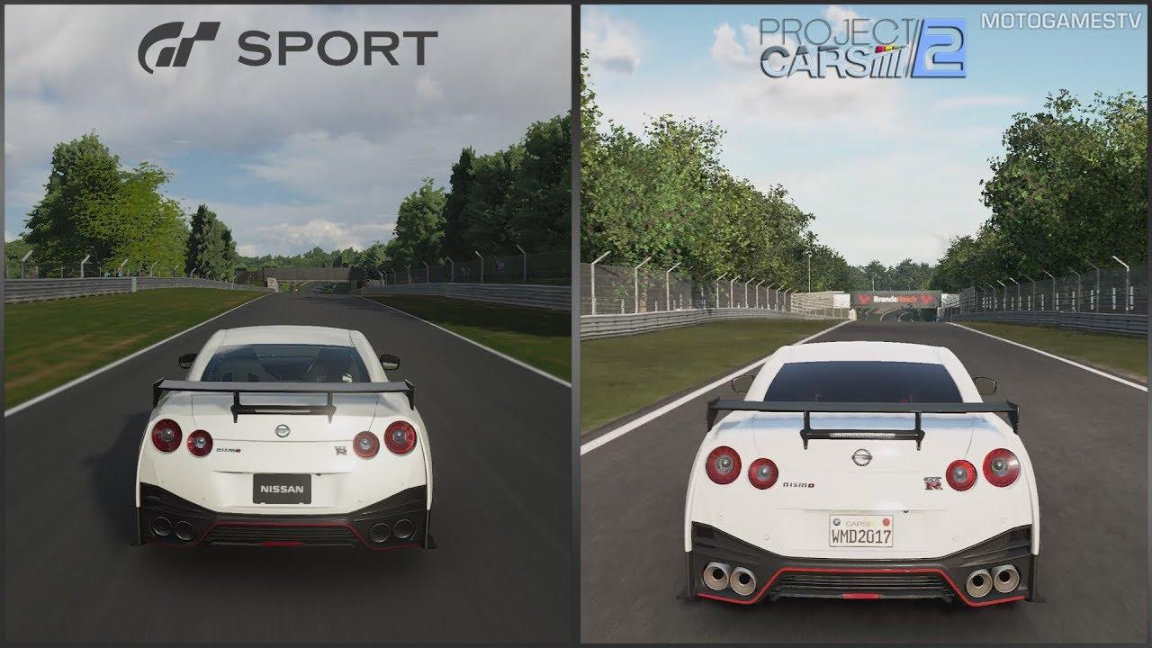 Gran Turismo Sport vs Project CARS 2 - Nissan GT-R NISMO ...