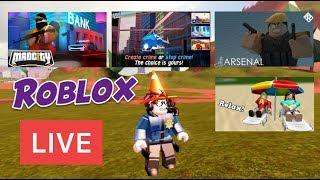 🔴 streaming in diretta di Roblox Jailbreak, Mad City, Arsenale, Bloxburg 🔴 Live