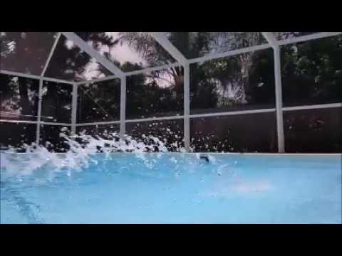Filling Pool with Tap Water from Hose (chop / ripple sound for Tinnitus and others)