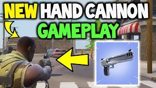 FORTNITE NEW HAND CANNON Early GAMEPLAY! - New Weapon (Desert Eagle)! UPDATE 3.1.0 - Battle Royale