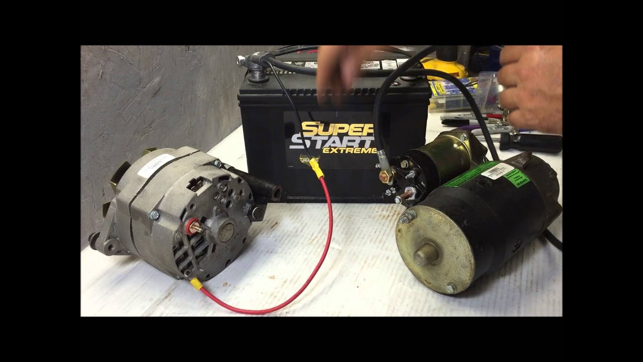 64 72 Charging System Wire Up Using Gm 3 Internally Regulated Marine Voltage Regulator Wiring Diagram Alternator Youtube