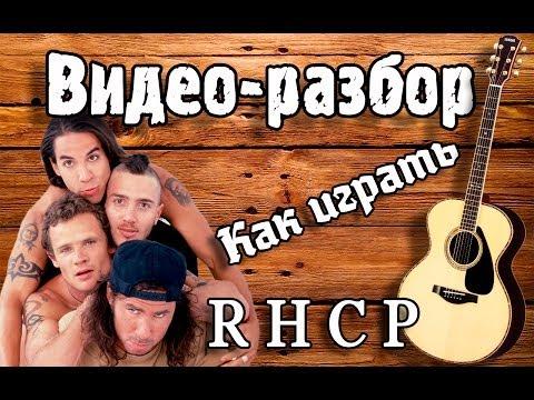 Как играть RHCP - Californication / Урок на гитаре, видео разбор Red Hot Chili Peppers
