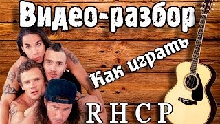 Как играть RHCP - Californication / Урок на гитаре, видео разбор Red Hot Chili Peppers