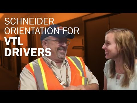 About Schneider's Orientation For Van Truckload Drivers
