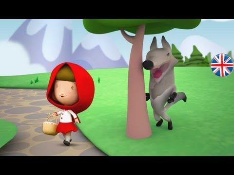 LITTLE RED RIDING HOOD -  English fairy tale for kids