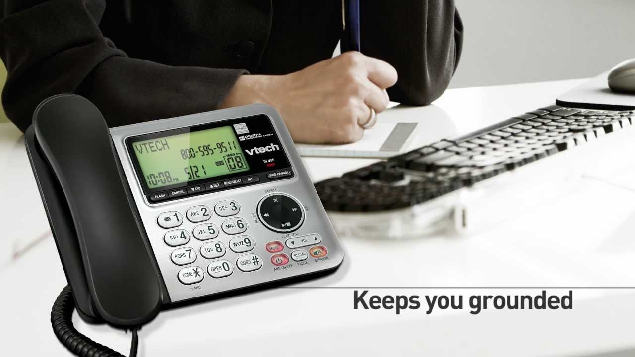 2fe7c23bbaf1 VTech® CS6649 Corded & Cordless Phone With Built In Answering System -  YouTube