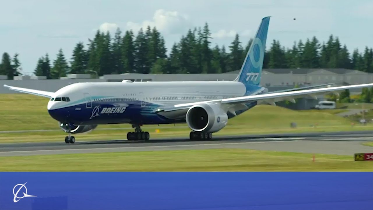Boeing 777X First Taxi Test