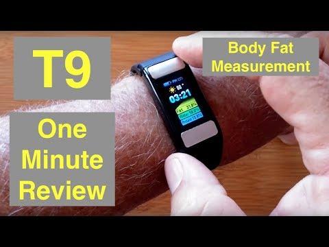 ALFAWISE T9 Body Fat Fitness Tracker Smart Sports Bracelet: One Minute Overview thumbnail