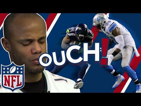 NFL BIGGEST HITS & BEST CATCHES | Vincent Kompany Reacts | Superbowl LI