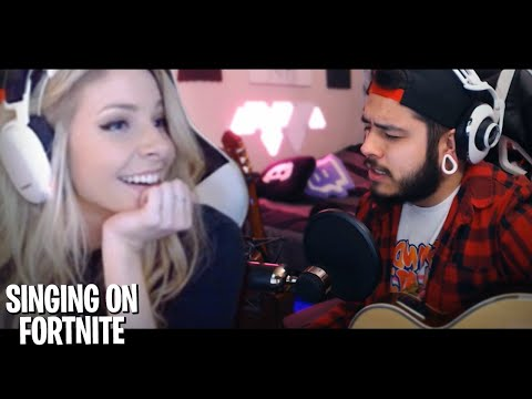 SINGING to a GIRL on Fortnite! CaseyMeow pt.1