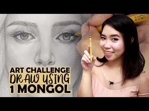 Art Challenge: Draw A Portrait Using 1 Mongol Pencil | Philippines