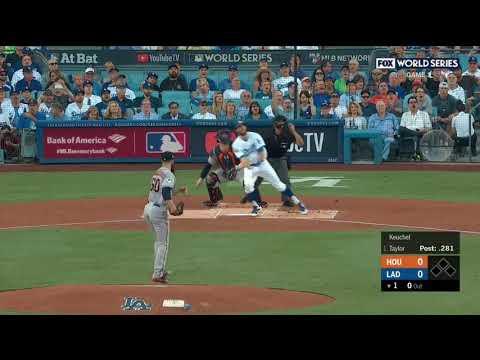 Chris Taylor Leadoff Homerun Dodgers vs Astros World Series 2017 Game 1