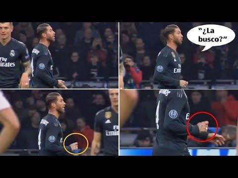 Sergio Ramos buscó la tarjeta amarilla en el partido contra el Ajax