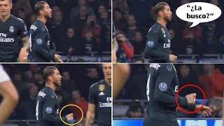 Sergio Ramos buscó la tarjeta amarilla