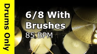 Drum Beat in 3/4 Played With Brushes 170 BPM - Backing Track by DooleyDrums.com