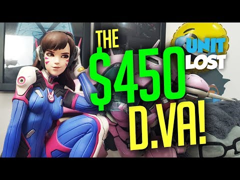 Unboxing the INSANE Overwatch D.Va $450 Statue!