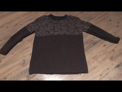 Pullover stricken mit Nadel 10