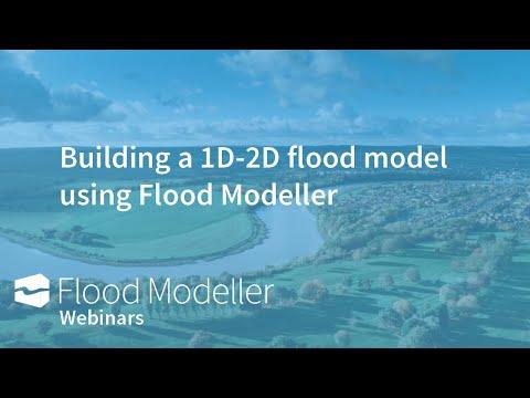 Building a 1D-2D flood model using Flood Modeller Free