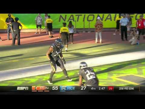 Michael Bennett Sprints 57 Yards for an ALMOST TD! | Rice vs. Irvin | NFL Pro Bowl 2016