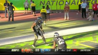 Michael Bennett Sprints 57 Yards for an ALMOST TD! | Rice vs. Irvin | NFL Pro Bowl 2016