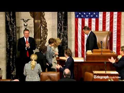 Gabrielle Giffords bids farewell to Congress