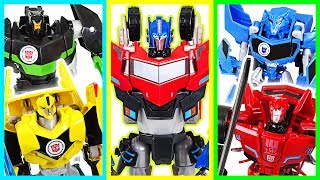 Transfomers : RID! Defeat the dinosaurs! Optimus Prime, Bumblebee, Grimlock! - DuDuPopTOY