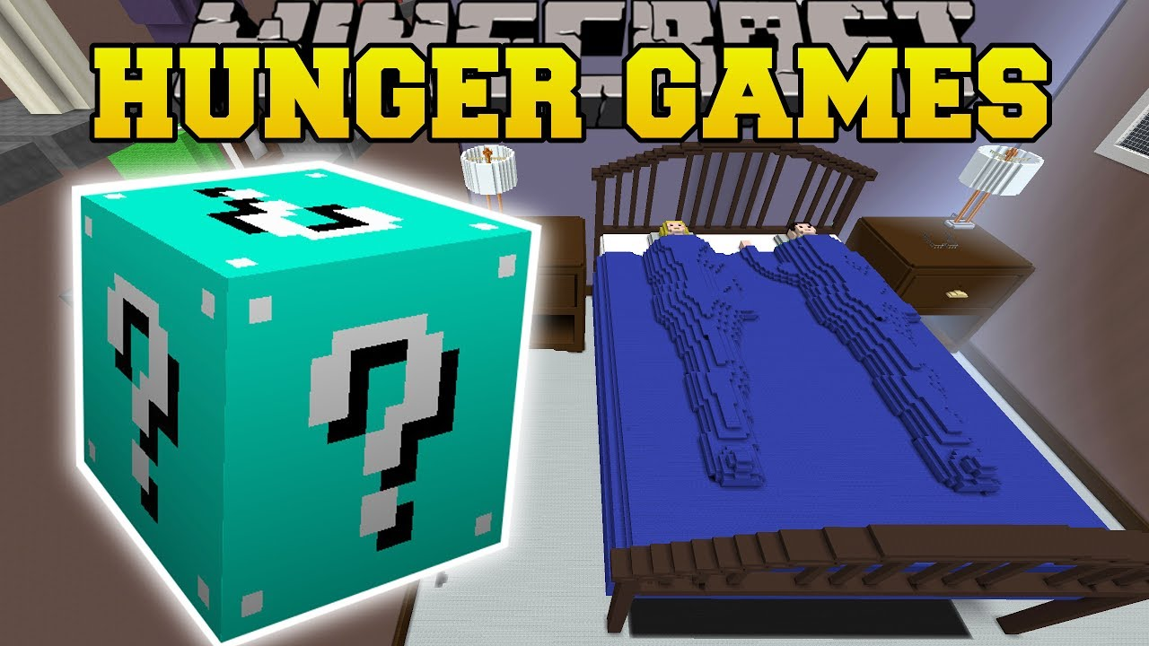 Minecraft GIANT BED HUNGER GAMES Lucky Block Mod