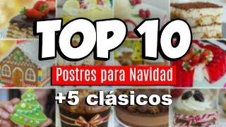 TOP 10 POSTRES PARA NAVIDAD + 5 IMPRESCINDIBLES | Quiero Cupcakes!