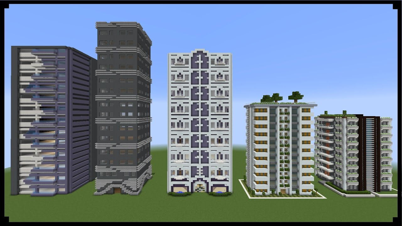 House Blueprints Minecraft How To Make Sky Scrapers Youtube