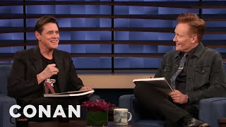 Jim Carrey & Conan Sketch Each Other - CONAN on TBS