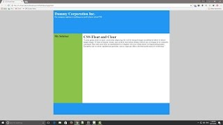 CSS Float and Clear Tutorial
