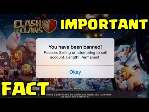 AVOID YOUR ACCOUNTS TO GET BANNED IN CLASH OF CLANS.
