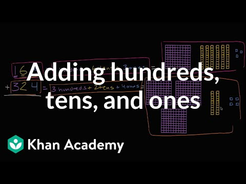 Adding Hundreds, Tens, And Ones | Addition And Subtraction Within 100 | Early Math | Khan Academy