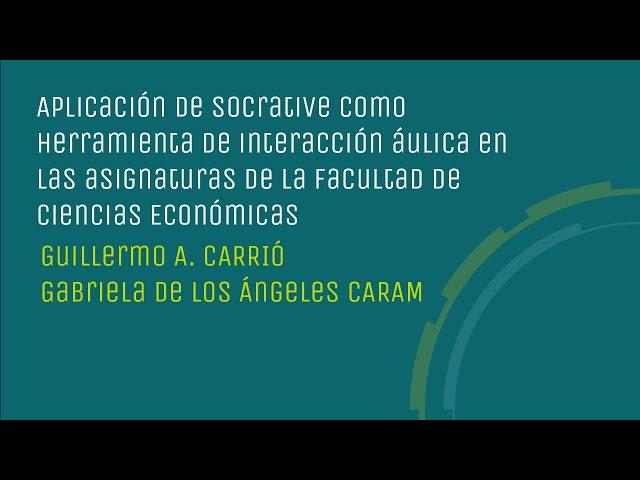 Aplicación de Socrative en las asignaturas de la FCE