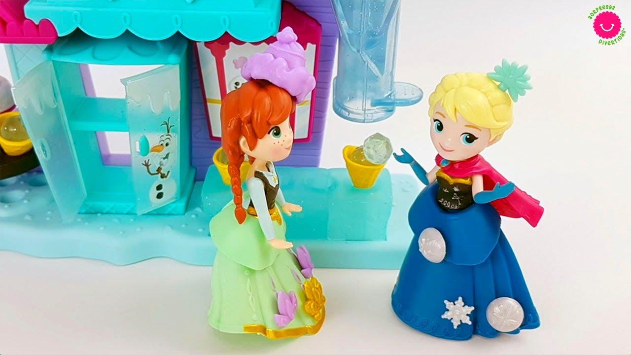 Historias de Frozen Elsa y Ana con diferentes muñecas y juguetes