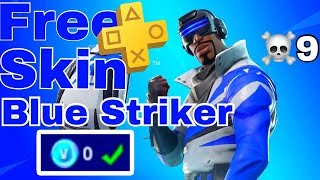 how to get the blue striker in fortnite /blue striker fortnite gameplay /blue striker skin fortnite