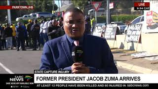 State Capture Inquiry | Former President Jacob Zuma arrives