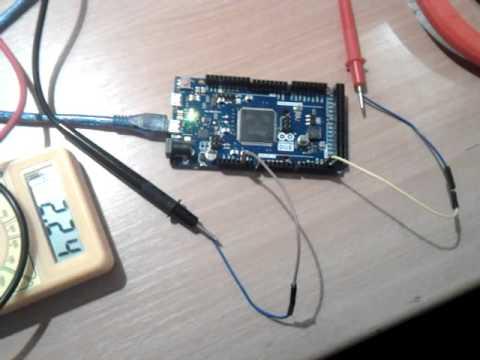 Generate sine wave with Arduino Due DAC1