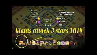 2018 Town Hall 10 best attack strategy|how to 3 star Town Hall 10 with giant and Lava loan