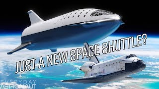Ever since SpaceX tweeted this photo on September 13th, 2018, a lot of people fear the BFR is slowly turning into the space shuttle. Quoting ever growing wings and a giant heat shield covering the belly of the ship… so how is this any different than the Space Shuttle?   Today we'll to cover three topics. First, we'll compare the reentry of the space shuttle to the reentry of the BFS and show how they differ. Then we'll explain what control surfaces allow the BFS to perform this reentry, and then we'll compare the thermal protection systems of the Shuttle and the BFS.  Kerbal Livestream video - https://youtu.be/uEdtSsADEGM  Check out Lukas' awesome YouTube channel - kNews Space!!! https://www.youtube.com/knewsspace  Show your support and join our exclusive discord channel and subreddit by becoming a Patron - http://patreon.com/everydayastronaut  Everyday Astronaut hats, prints, shirts and more at - https://everydayastronaut.com/shop/  All music is original! Check out the songs on soundcloud! http://soundcloud.com/everydayastronaut