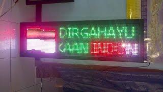 demo seting modul p10 RGB ( 7 warna ) Part 1