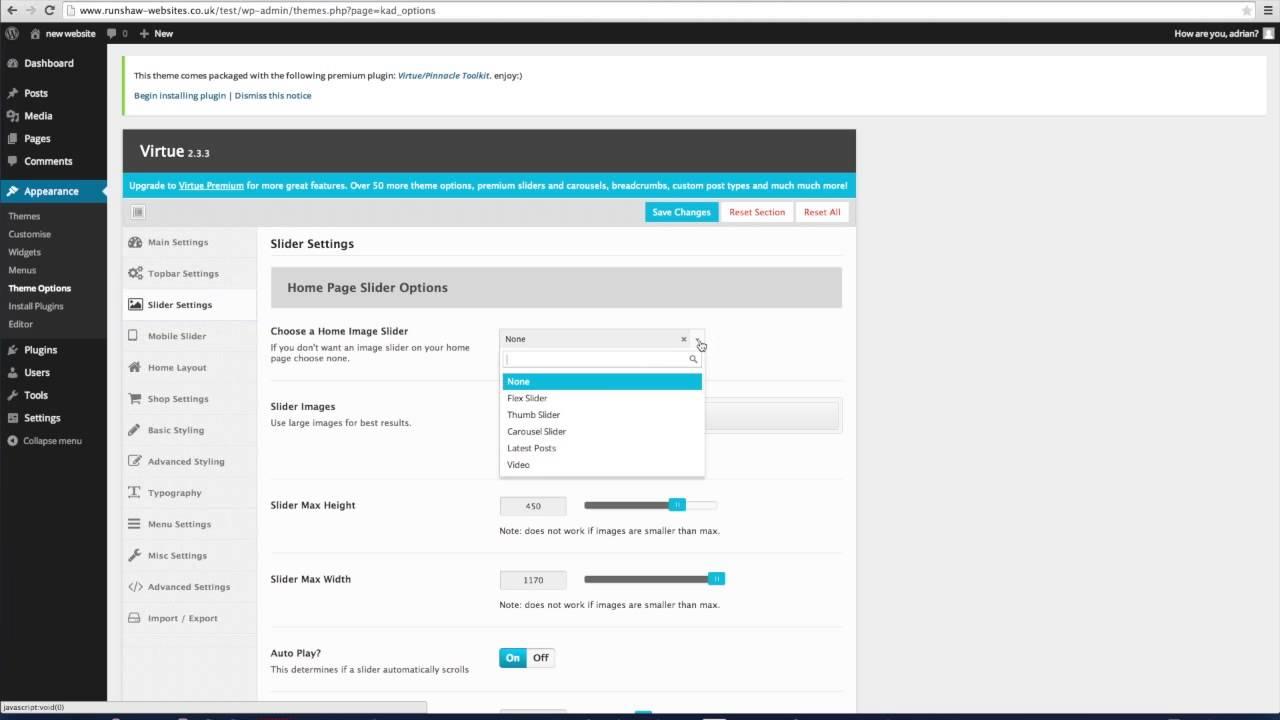 6 - WordPress - Inserting a rotating banner
