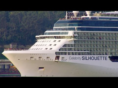 Celebrity Cruises Silhouette cruise ship in Lisbon