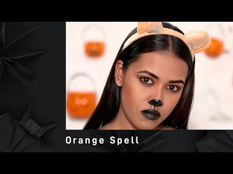 Halloween Makeup look with Orange Spell | Halloween Makeup Tutorial | MyGlamm