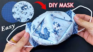5 Minutes Fast Easy To Make Mask Diy 3D Face Mask Easy Pattern Sewing Tutorial Mask Making Idea
