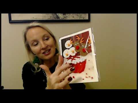 ASMR Crinkly Christmas Cards (Plastic Crinkle & Whisper)