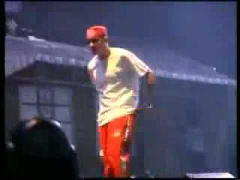 Eminem Showin Up His WHITE ASS On The Stage God Damn