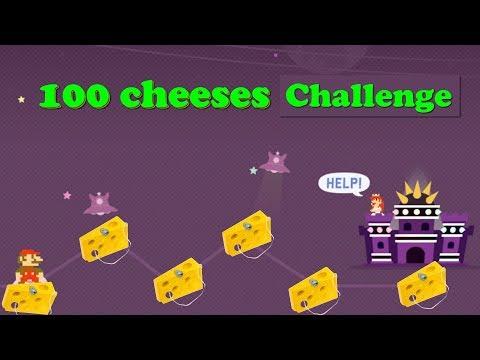 El reto de los 100 Quesos | Mario maker español latino